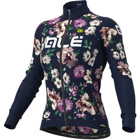 Alé Cycling Graphics PRR Fiori Winter Maillot À Manches Longues Femme, navy blue